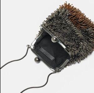 STUNNING rare NWT Zara Beaded Urchin Bag 6618/314